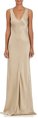 Alberta Ferretti Women's Embellished Silk Charmeuse Gown - Pearl, Champage