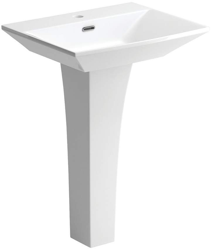 Indulge 600 Mm 1 Tap Hole Basin And Pedestal