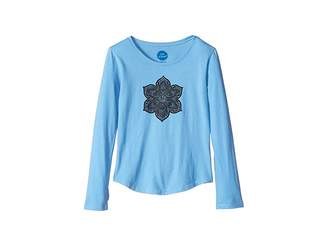 Life is Good Primal Flower Smiling Smooth T-Shirt Long Sleeve (Little Kids/Big Kids)