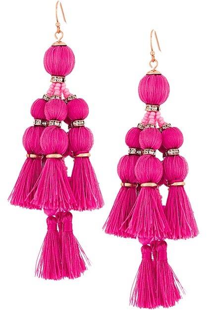Kate SpadeKate Spade New York - Pretty Poms Tassel Statement Earrings Earring
