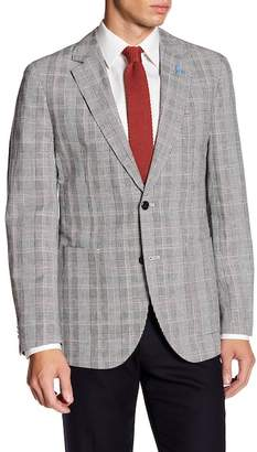 Tailorbyrd Classic Notch Collar Plaid Print Sport Coat