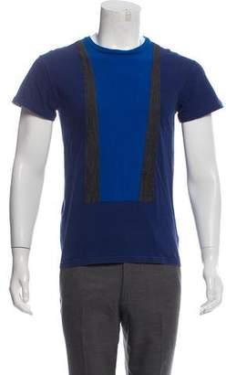 Christian Dior Silk-Blend Short Sleeve T-Shirt