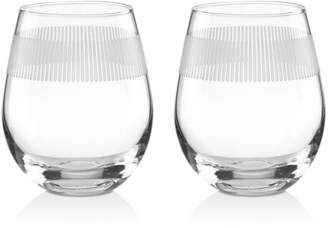 Kate Spade York Avenue Stemless Wine Glass, Set of 2