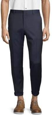 HUGO BOSS Folded Cuff Wool Pants