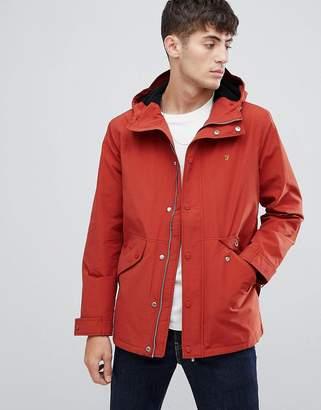 Farah Brodie hooded jacket in red