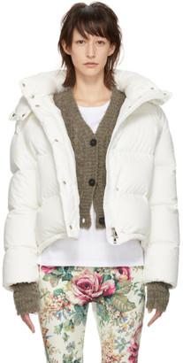 Moncler SSENSE Exclusive Off-White Down Poenia Jacket