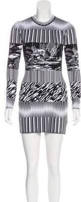 Balenciaga Jacquard Mini Dress