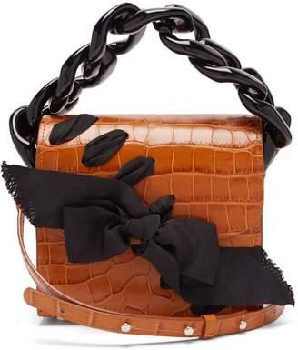 Marques Almeida MARQUES'ALMEIDA Crocodile-embossed leather cross-body bag