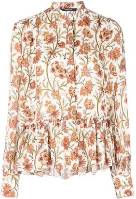 Derek Lam floral print ruffle hem blouse