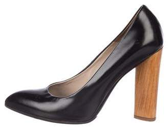 Brian Atwood Pointed-Toe Leather Pumps