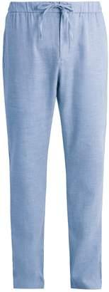 FRESCOBOL CARIOCA Drawstring-waist linen-blend trousers