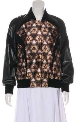 Prabal Gurung Wool & Silk Bomber Jacket
