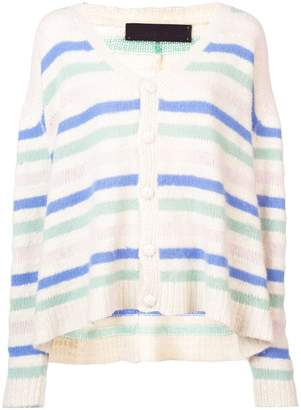 The Elder Statesman cashmere mixed stripe cardigan