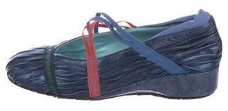 Thierry Rabotin Leather Round-Toe Wedges