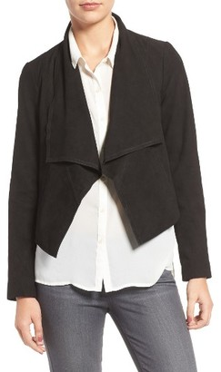 Women's Cole Haan Cascade Collar Suede Jacket $500 thestylecure.com