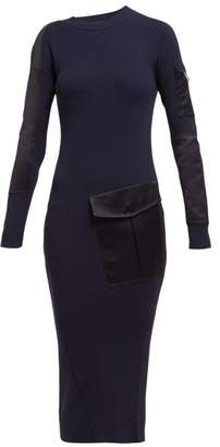 Sportmax Bill Dress - Womens - Navy