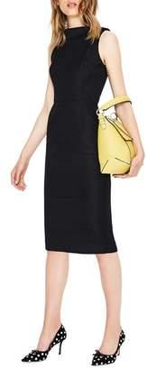 Boden Martha Seam Detail Sleeveless Sheath Dress