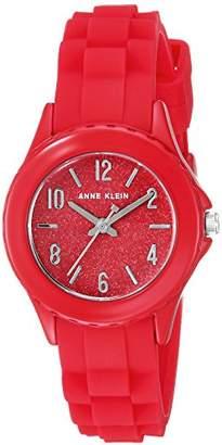 Anne Klein Women's AK/3239RDRD Silicone Strap Watch