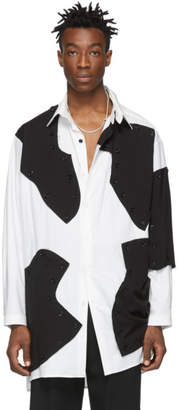 Yohji Yamamoto White and Black Detachable Button Shirt