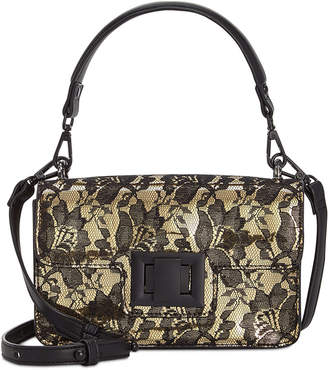 Steve Madden Christy Lace Overlay Top Handle Crossbody