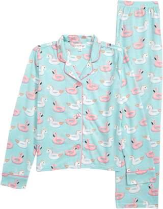 PJ Salvage Pool Float Print Two-Piece Pajamas
