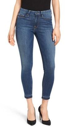 Women's Good American Good Legs Crop Released Hem Skinny Jeans $159 thestylecure.com