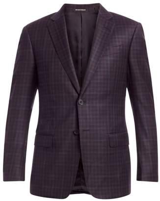 Emporio Armani Virgin Wool Check Blazer