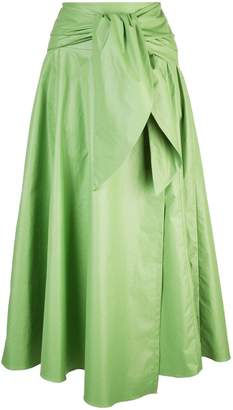 Tibi glossy wrap skirt