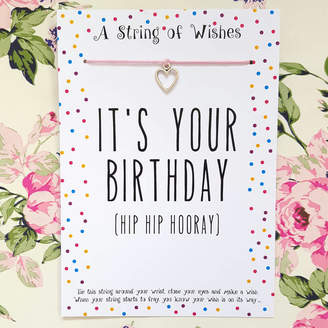 all things Brighton beautiful Birthday Bracelet Gift Card