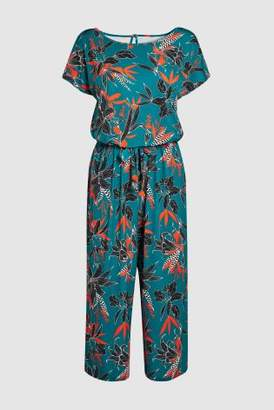 Next Womens Green Printed Jumpsuit