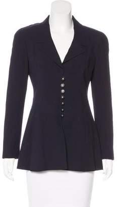 Chanel Wool Button-Up Blazer