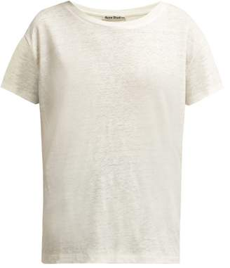 Acne Studios Eldora Linen T Shirt - Womens - White
