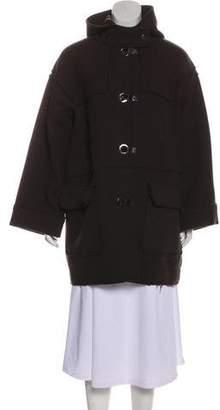 Lanvin Wool Hooded Coat
