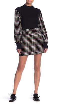 ENGLISH FACTORY Checkered Knit Mini Skirt