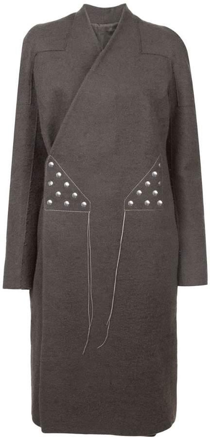 stitching wrap-around coat