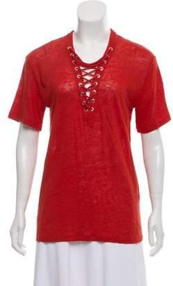 IRO Lace Up Linen Shirt w/ Tags