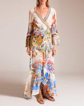 Camilla Lady Labyrinth Long Sleeve Wrap Dress
