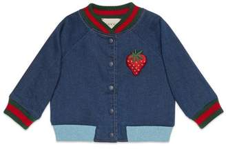 Gucci Baby jersey denim bomber jacket