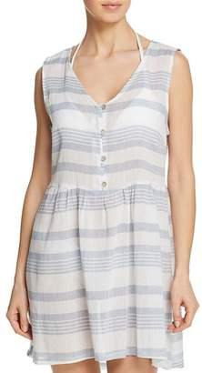 J Valdi Sardinia Button-Front Dress Swim Cover-Up