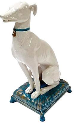 One Kings Lane Vintage Italian Ceramic Whippet Figurine - Vermilion Designs