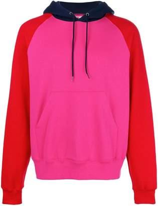 Cédric Charlier colourblock hoodie