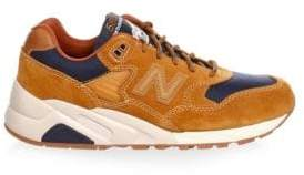 New Balance 580 Suede& Mesh Contrast Sneakers
