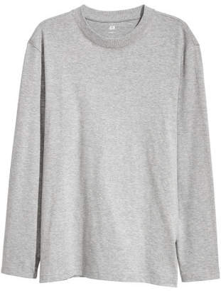 H&M Long-sleeved Shirt Loose fit - Gray