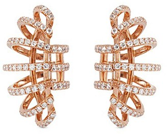 Dauphin Diamond 18k rose gold clip earrings