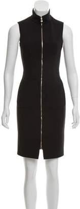 L'Agence Zipper-Accented Mini Dress