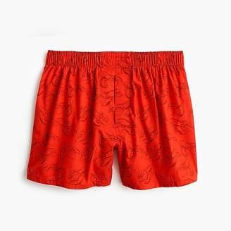 J.Crew Red lobster print boxers
