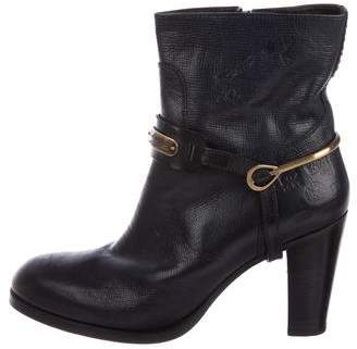 La Martina Leather Ankle Boots