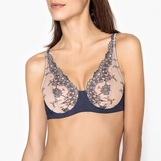 La Redoute Collections Embroidered Tulle Bra