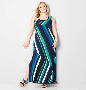 Avenue Diagonal Stripe Maxi Dress