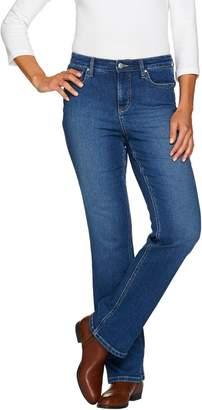 Denim & Co. Regular 5 Pocket Denim Slightly Bootcut Jeans